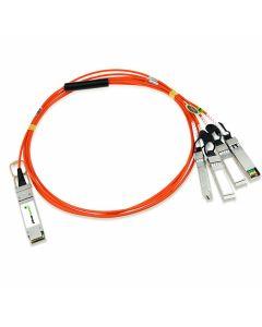 PlusOptic compatible AOCQSFP+-4-3M-PLU 3M QSFP+-4SFP